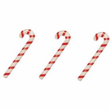 3x kerst opblaasbare snoepstok 90 cm