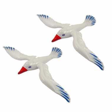 3x stuks opblaasbare zeemeeuw vogels 76 cm