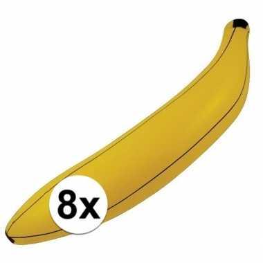 8x opblaasbare banaan/bananen 80 cm