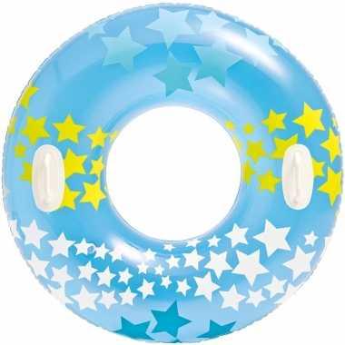 Intex opblaasbare blauwe zwemband/zwemring sterrenprint 91 cm