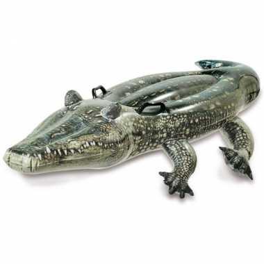 Intex opblaasbare realistische krokodil 170 cm ride-on speelgoed