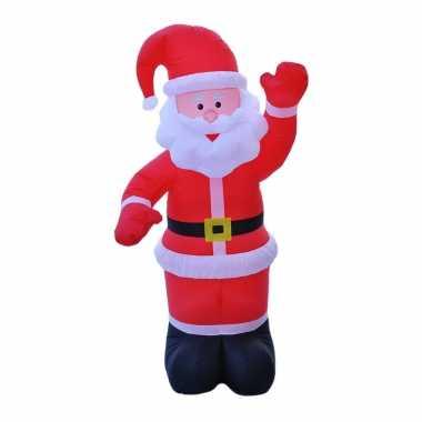 Opblaasbare kerstman 180 cm kerstdecoratie/kerstversiering