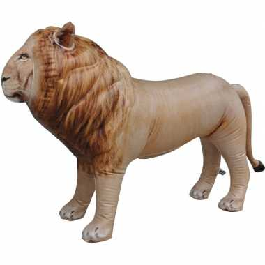 Opblaasbare leeuw 60 cm decoratie/speelgoed