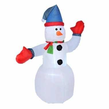 Opblaasbare sneeuwpoppen met licht 180 cm kerstdecoraties