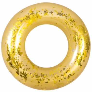 Opblaasbare zwembad band/ring goud 106 cm