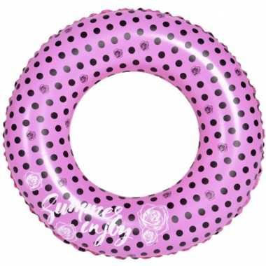 Opblaasbare zwembad band/ring roze 90 cm