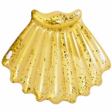Opblaasbare zwembad luchtbed matras gouden schelp van 172 x 165 cm
