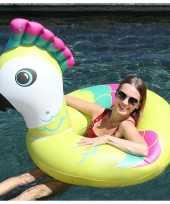 Gekleurde vogel opblaasbare zwemband zwemring 88 x 101 x 82 cm speelgoed