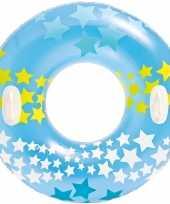 Intex opblaasbare blauwe zwemband zwemring sterrenprint 91 cm