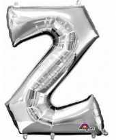 Letter z ballon zilver 86 cm