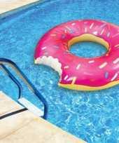 Opblaasbare donut xxl zwemband 122 cm
