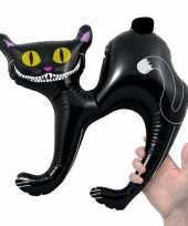 Opblaasbare zwarte kat 41 cm
