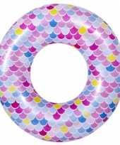 Opblaasbare zwembad band ring zeemeermin schubben 90 cm