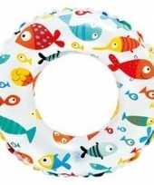 Opblaasbare zwemband met visjes 51 cm