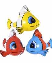 Pakket van 4x stuks opblaasbare tropische vissen van 60 cm
